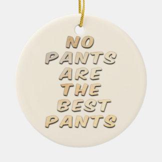 No hay pantalones el ornamento de cerámica de los