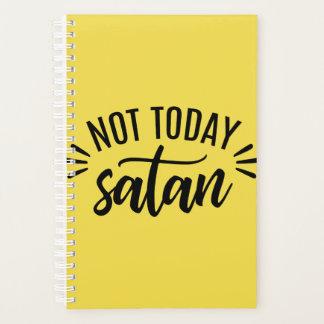 No hoy planificador espiral divertido de Satan