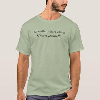 No importa dónde usted va allí usted es camiseta