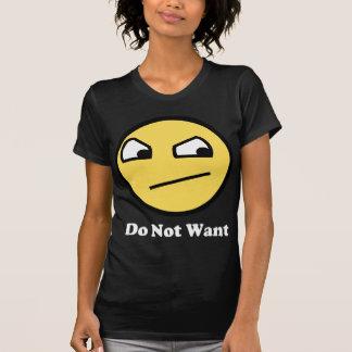 No impresionante no quiera camiseta
