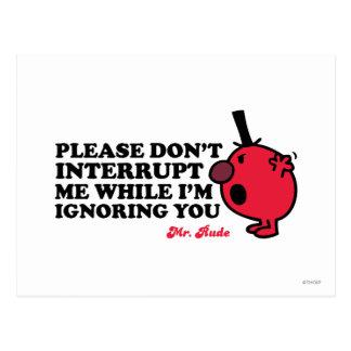 No interrumpa a Sr. Rude Postal