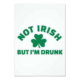 No irlandés sino yo es el trébol borracho invitacion personal