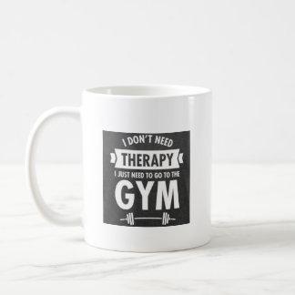 No la terapia hace la taza del gimnasio