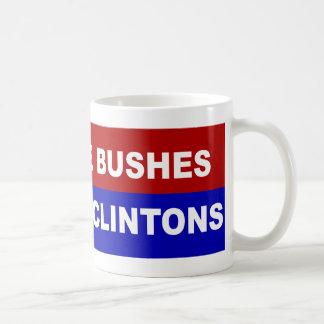 No más de arbustos, no más de Clintons Taza De Café