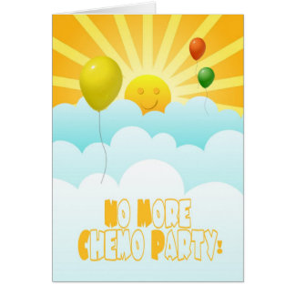 No más de globos de Chemo y de invitación de la Tarjeta De Felicitación