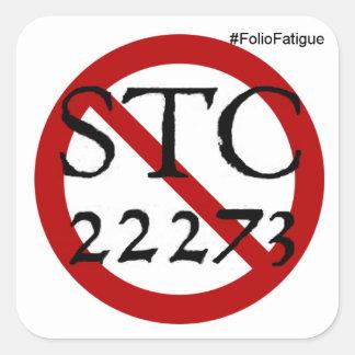 no más de pegatina de la STC 22273