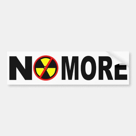 No más de pegatina para el parachoques nuclear pegatina para coche