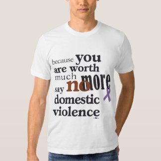 No más de violencia en el hogar camiseta