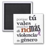 No Más Violencia de Género Imanes De Nevera