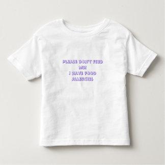 ¡No me alimente por favor! Tengo alergias Camiseta De Bebé