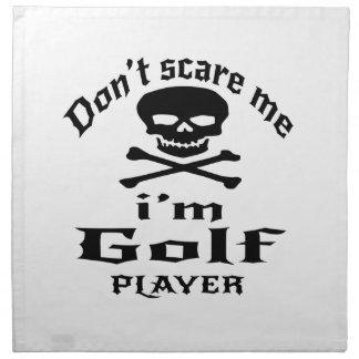 No me asuste que soy jugador de golf servilleta de tela