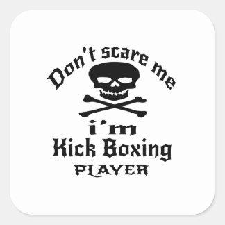 No me asuste que soy jugador del boxeo de pegatina cuadrada