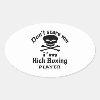 No me asuste que soy jugador del boxeo de pegatina ovalada