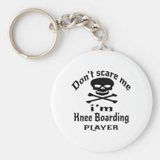No me asuste que soy jugador del embarque de la llavero redondo tipo chapa