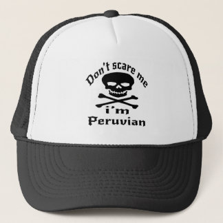 No me asuste que soy peruano gorra de camionero
