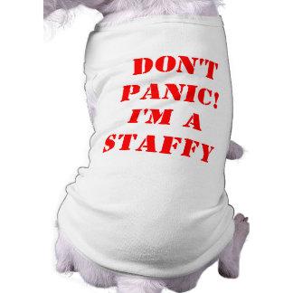 No me atierro soy un Staffy Camiseta Sin Mangas Para Perro