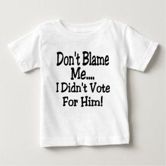 no me culpe camiseta de bebé