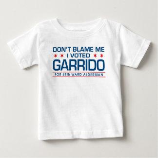 No me culpe que voté a Garrido Camiseta De Bebé