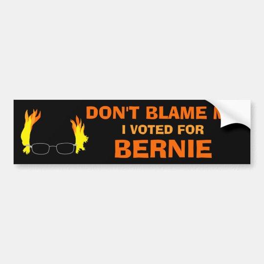 No me culpe que voté por el pelo ardiente de pegatina para coche