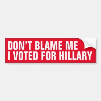 No me culpe que voté por la pegatina para el