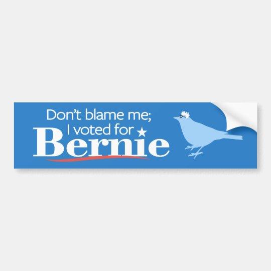 No me culpe; Voté por Bernie Pegatina Para Coche