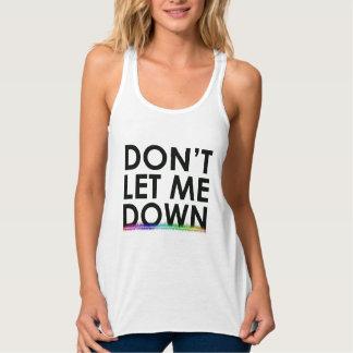 No me deje abajo de las camisetas sin mangas de