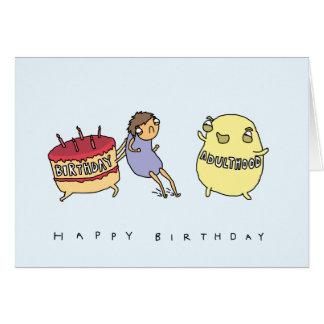 No me haga al adulto el | tarjeta de cumpleaños