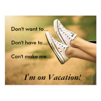 No me quiera… son el vacaciones postal