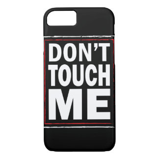 No me toque cubierta negra del iPhone 7 Funda iPhone 7
