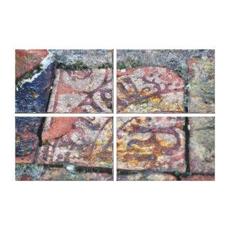 No. medieval 2 de las baldosas impresión en lienzo estirada