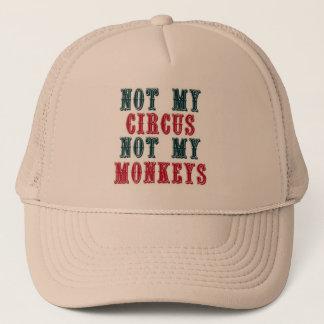 No mi circo, no mi gorra de béisbol de los monos