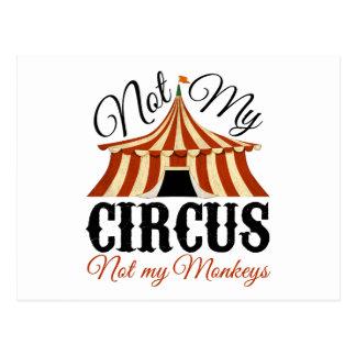 No mi circo - no mis monos postal