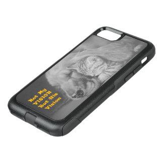No mi Vision sino su gato y perro amistosos de Funda Commuter De OtterBox Para iPhone 7