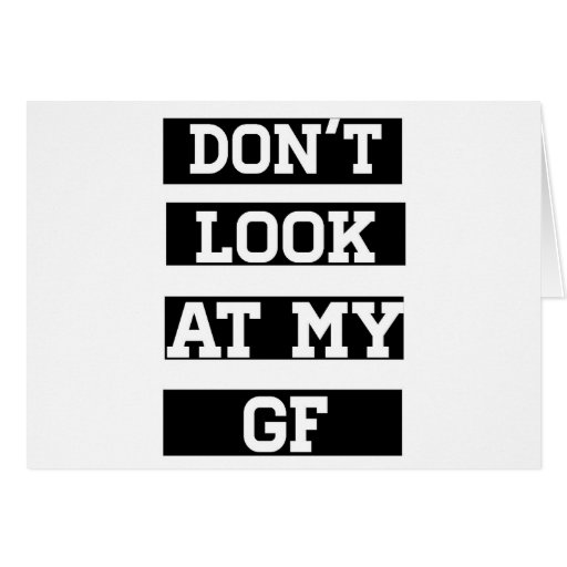 No mire a mi novia tarjetón