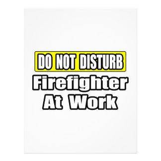 No moleste… al bombero en el trabajo flyer personalizado