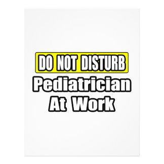 No moleste… al pediatra en el trabajo tarjetones