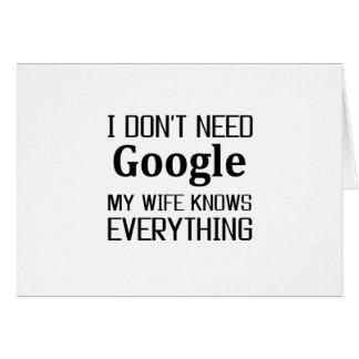 No necesito Google Tarjeta De Felicitación