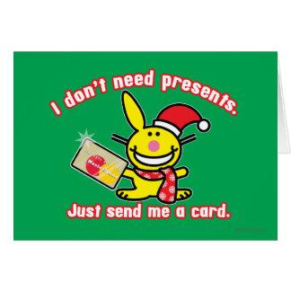 No necesito presentes tarjeta de felicitación