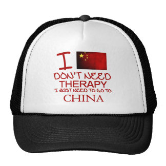 No necesito terapia que apenas necesito ir a China Gorros Bordados