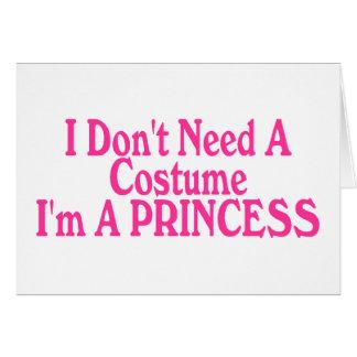 No necesito un traje que soy princesa tarjetón