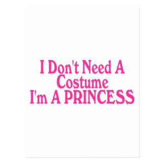No necesito un traje que soy princesa postal