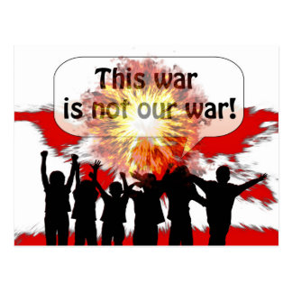 No nuestra postal de la guerra