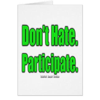 No odie. Participe Felicitacion