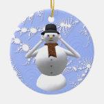 No oiga ninguna decoración malvada del árbol de na ornamentos de navidad