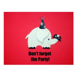 ¡No olvide al fiesta! Postal
