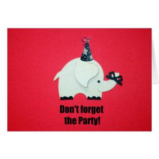 ¡No olvide al fiesta! Tarjeta