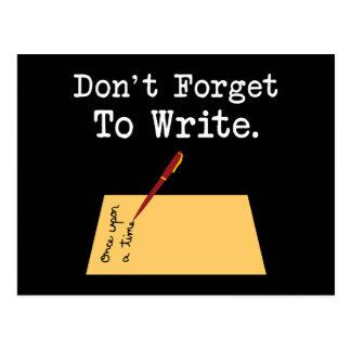 No olvide escribir postal