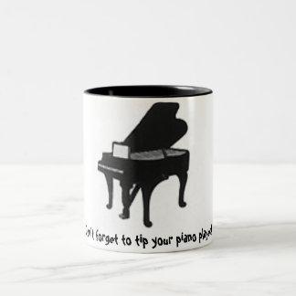 ¡No olvide inclinar a su pianista! Taza