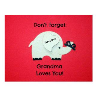 No olvide: ¡La abuela le ama! Nieto Postal