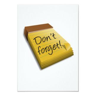 No olvide la libreta invitaciones personalizada